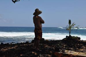 Enjoying the surf