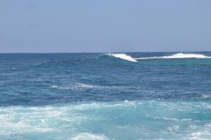 Nice surf and clear day