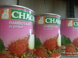 Canned goods in TNT Seafood