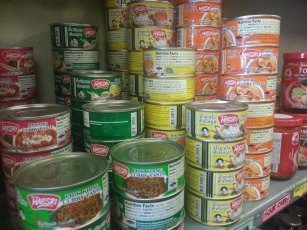 Curry cans @ TNT Seafood