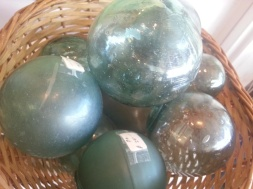 Glass fishing balls @ Alan's Art and Collectibles