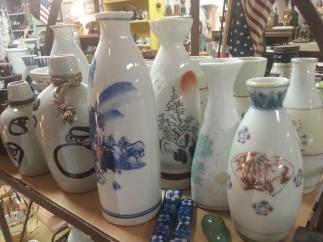 Sake bottles @ Alan's Art and Collectibles