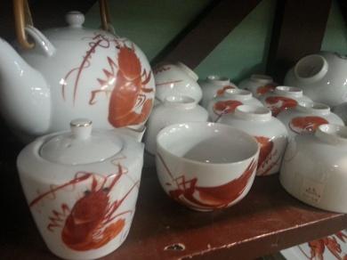 Shrimp Dish Set @ Alan's Art and Collectibles