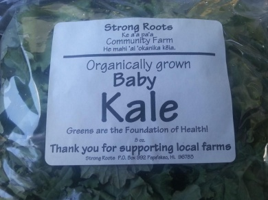 Picking up some kale @ Island Naturals