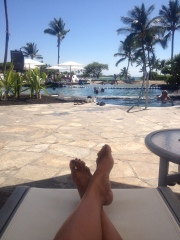 Relaxed poolside... just what the Dr ordered!