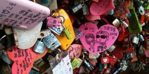 lovers' locks at namsan