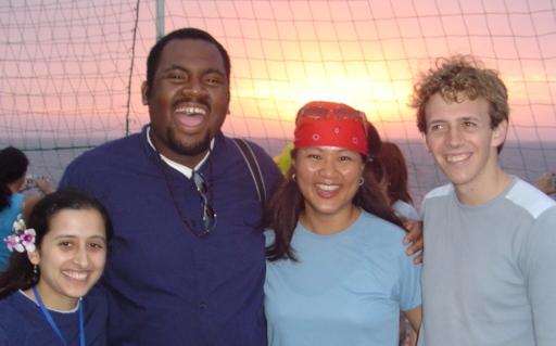 US Delegates Crossing Equator