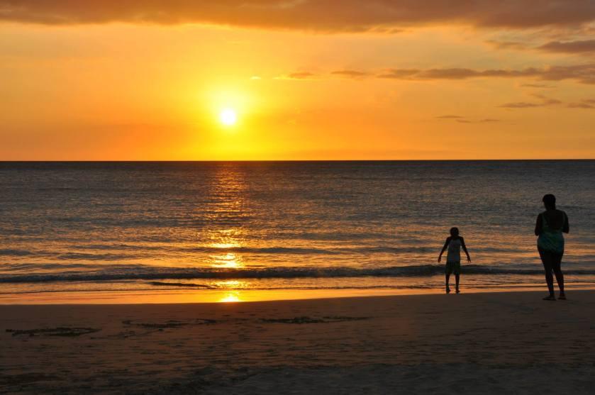 Sunset at Hapuna Beach State Recreation Area