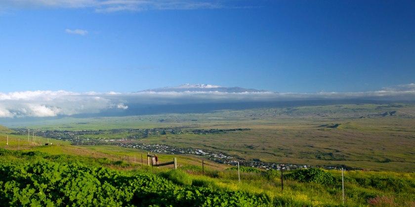 View of Kamuela (Waimea) atop Kohala Mountain