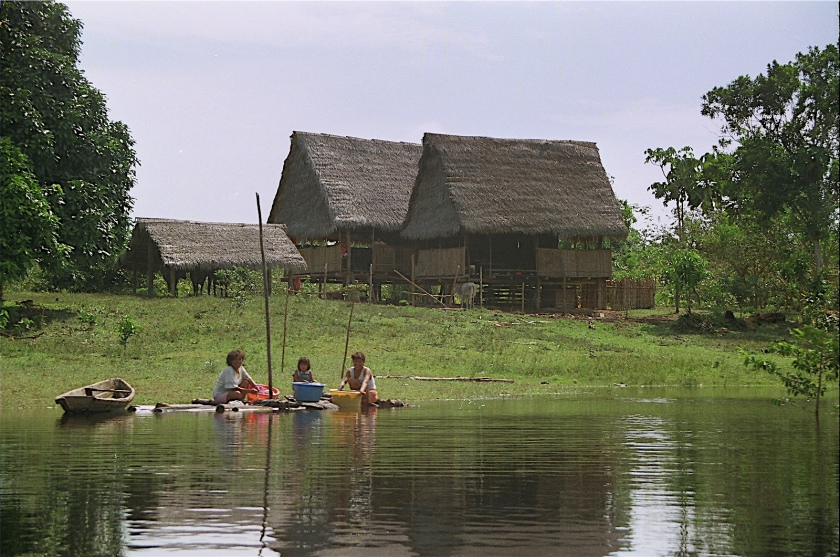 Village along Amazon