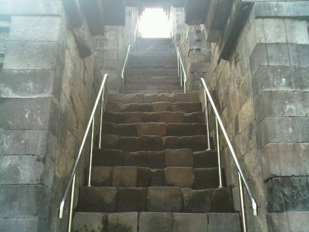 Stairs of Borobudur Temple Magelang, Central Java, Indonesia