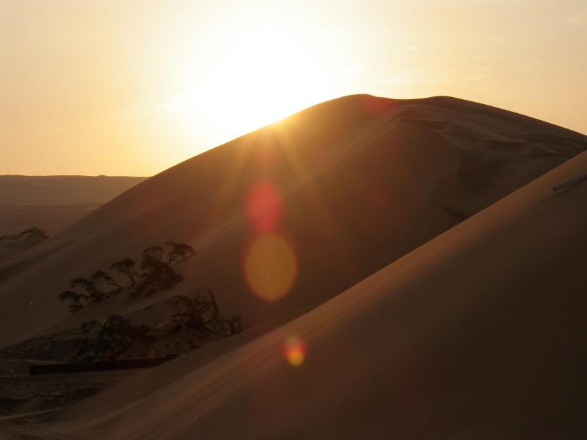 Sunset Sand Dunes Ica, Peru