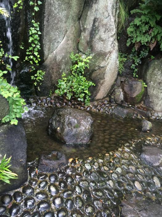 a stream runs through it at hasedera