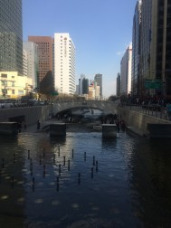 Cheonggyecheon in the late afternoon