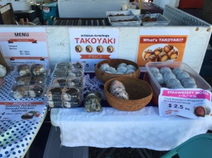 A lovely selection from the takoyaki booth