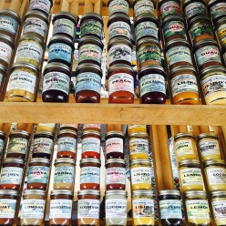 Locally made butters, jams, jellies, and preserves