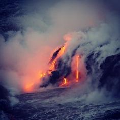 The lava glow at dawn